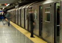 New York City man shoves woman head-first into subway train, video shows