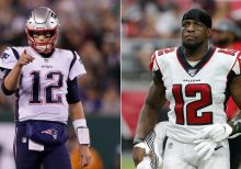 New England Patriots' Tom Brady offers Mohamed Sanu No. 12 jersey after trade: 'nah I'm good'