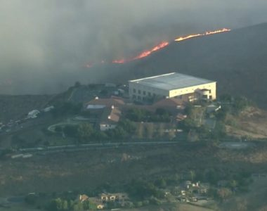 Ronald Reagan Presidential Library threatened by Easy Fire in Simi Valley amid 'extreme red flag warning'