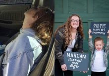 Mom in viral overdose photo celebrates 3 years of sobriety
