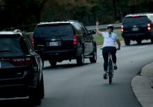 Virginia cyclist who flipped off Trump's motorcade wins race for local office