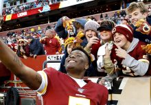 Washington Redskins' Dwayne Haskins takes selfie with fan, misses final snap