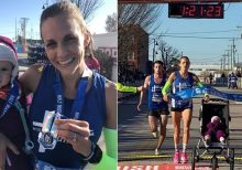 Guinness Book of World Records half-marathon time bested by mom --month-old daughter