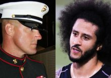Marine veteran turned congressional candidate calls Kaepernick a 'national disgrace'