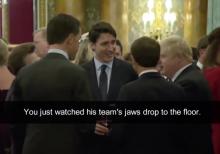 Trudeau, Johnson, Macron appear to be mocking Trump in surfaced video from NATO summit