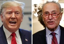 Trump attacks 'Cryin' Chuck Schumer after senator said US 'sold out' on China deal