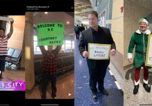 Missouri dad's elaborate airport signs embarrass daughter, delight everyone else