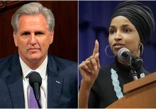 Omar reportedly shouts 'Stop it!' as GOP's McCarthy recounts Tlaib's profane comment about Trump impeachment
