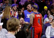 Washington Wizards' Isaiah Thomas confronts fan in stands who gives finger, curses at him