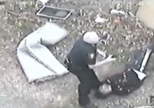 Fort Worth's top cop, 52, captured on video nabbing suspect after foot chase