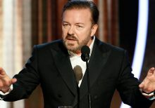 Golden Globe Awards host Ricky Gervais tears into Hollywood elite, Disney, Amazon, Apple
