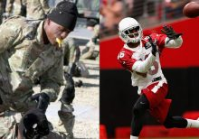 Former Arizona Cardinals' Jimmy Legree enlists in Army, fulfilling childhood goal
