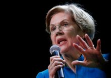 Warren town hall interrupted by angry protester accusing her of 'siding with terrorists'