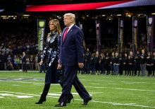 President Trump, Melania Trump cheered by crowd at LSU-Clemson national championship game