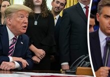 Trump scolds CNN's Jim Acosta for trying to disrupt Oval Office news conference: 'Quiet'