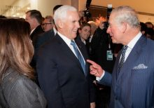 Pence's office denies Prince Charles 'snub' after video posted online