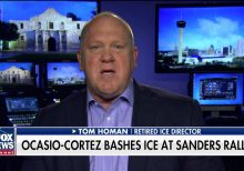 Tom Homan hits back at AOC for bashing ICE at Sanders rally: Her statements are 'dangerous' and 'idiotic'