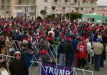Massive crowds form for Trump's New Jersey rally amid impeachment fight