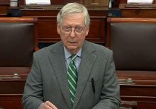 GOP blocks witnesses in Senate impeachment trial, as final vote could drag to next week