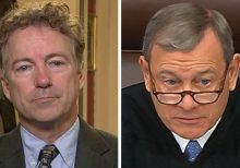 Rand Paul on Senate floor reads impeachment trial question that Roberts refused