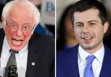 Buttigieg and Sanders leading Iowa Democratic caucuses, as party releases initial results after massive delay