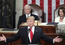 Trump takes on 'radical left' in defiant and dramatic State of the Union address; Pelosi rips up speech