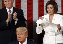 Dems demand Twitter, Facebook take down edited video of Pelosi ripping up State of the Union speech posted ...