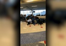 Texas airport police taser suspect in wild brawl caught on video
