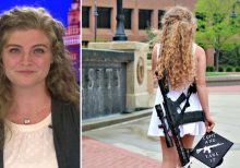 Kent State 'gun girl' confronted by protesters at Ohio University