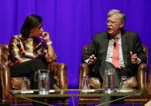 John Bolton pressed by Susan Rice on impeachment testimony at Vanderbilt event