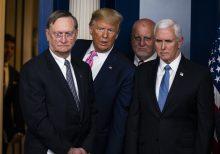 Trump rails against Dems 'wasting time' amid coronavirus threat