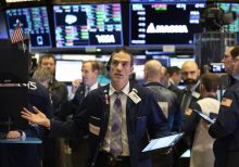 Dow takes steeper leg down, Microsoft remains higher