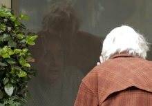 Coronavirus: Woman, 88, pictured chatting with quarantined husband of 60 years through window
