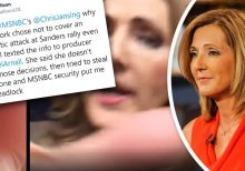 Pro-Sanders podcaster plans to press charges against MSNBC's Chris Jansing after physical altercation goes ...