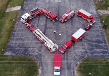 Wisconsin firefighters give heartfelt coronavirus tribute for health-care workers