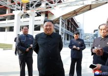 North Korea releases pictures showing Kim Jong Un's first public appearance in weeks