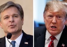 Trump says 'jury's still out' on FBI boss Wray – despite Barr defense
