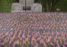 Boston's Memorial Day flag garden tradition lives on despite pandemic