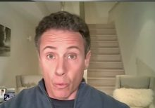 CNN's Chris Cuomo caught naked in background of wife's yoga video: report