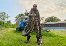 Florida snake hunter catches 17-foot python after bloody battle