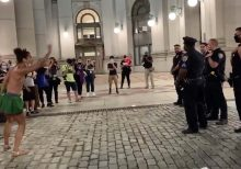 NYC Occupy City Hall protesters seen taunting NYPD: 'Black Judas'