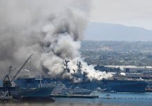 21 injured after explosion and fire breaks out on USS Bonhomme Richard at Naval Base San Diego
