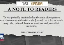 WSJ Editorial Board says it won't 'wilt under cancel-culture pressure' after staffers criticize coverage